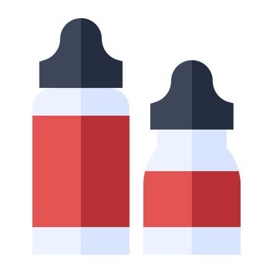 Flaskor för DIY e-juice